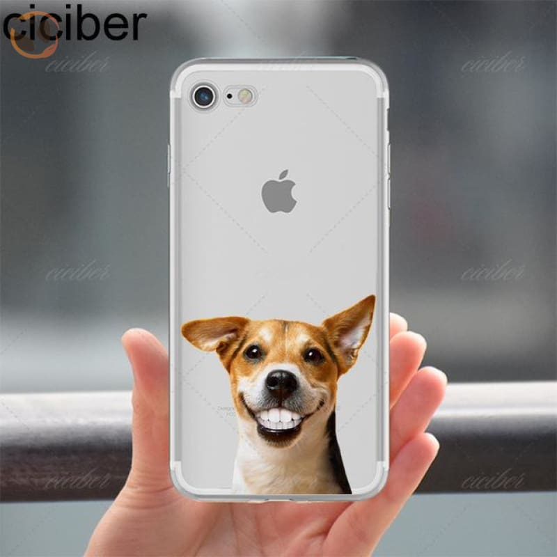 Soft Silicon Dog Printed Phone Cases For Iphone - Pattern 1 / For Iphone 5 5S Se