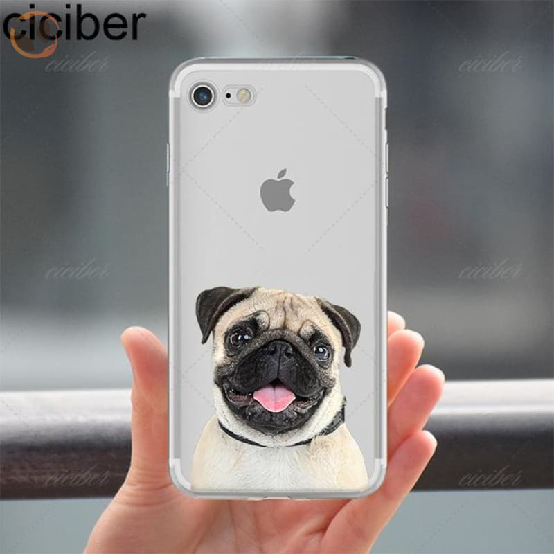 Soft Silicon Dog Printed Phone Cases For Iphone - Pattern 2 / For Iphone 5 5S Se