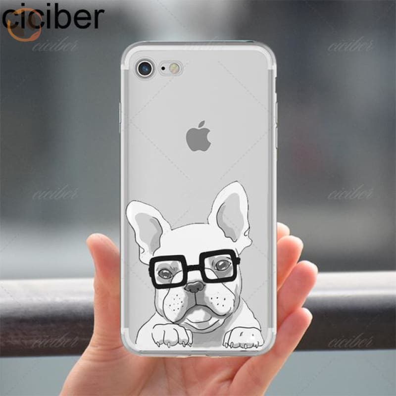 Soft Silicon Dog Printed Phone Cases For Iphone - Pattern 3 / For Iphone 5 5S Se