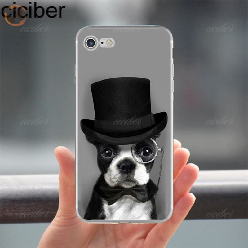 Soft Silicon Dog Printed Phone Cases For Iphone - Pattern 4 / For Iphone 5 5S Se