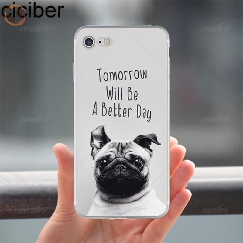 Soft Silicon Dog Printed Phone Cases For Iphone - Pattern 5 / For Iphone 5 5S Se