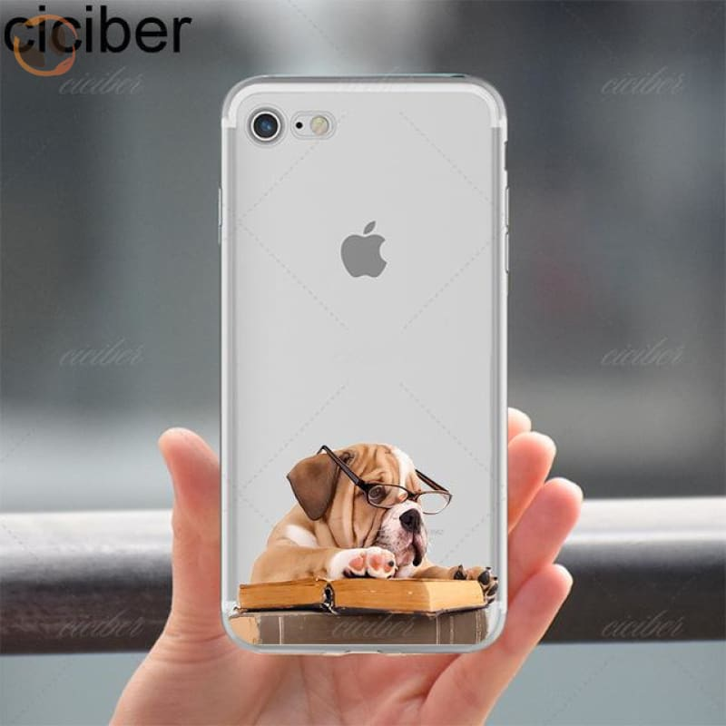 Soft Silicon Dog Printed Phone Cases For Iphone - Pattern 7 / For Iphone 5 5S Se