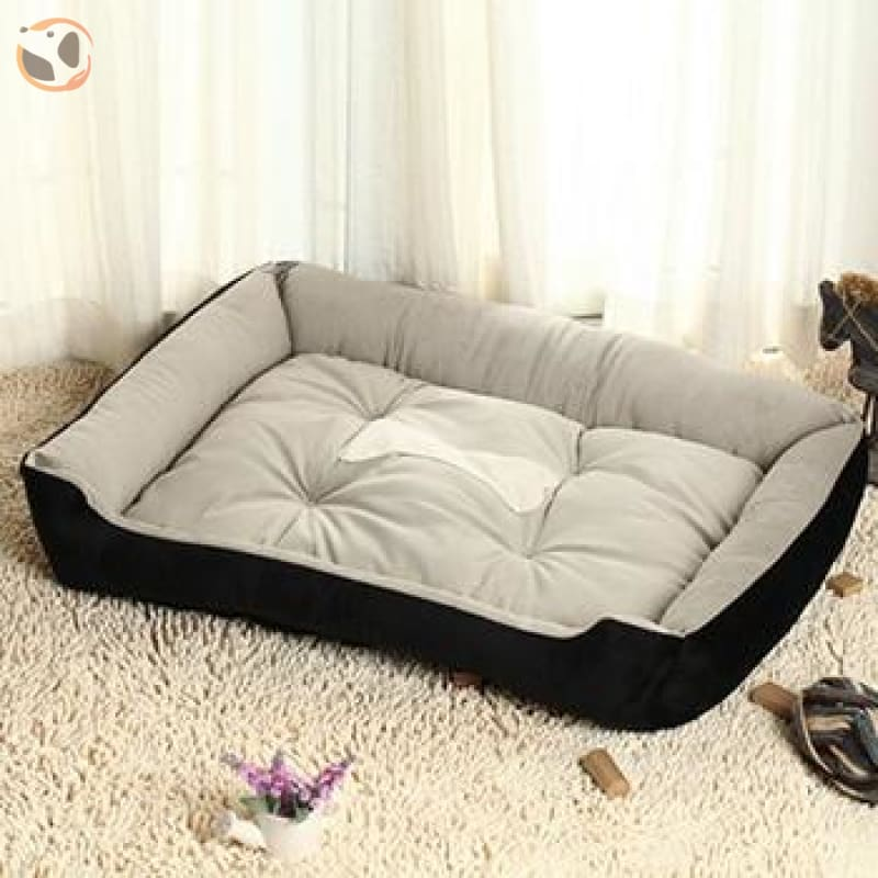 Soft Warming Dog Bed For Winter - Black / Xl 70X50Cm