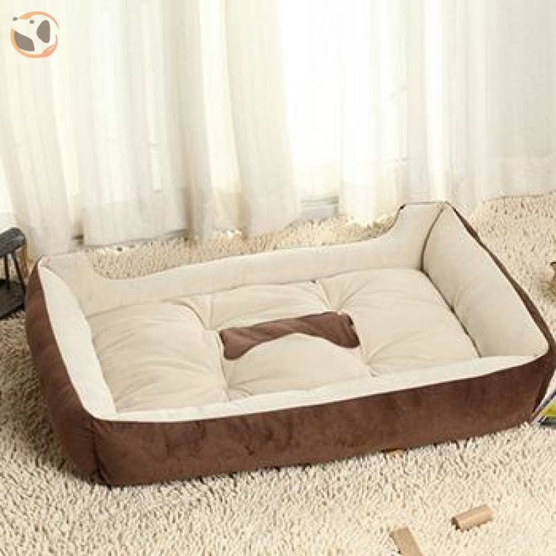 Soft Warming Dog Bed For Winter - Brown / Xl 70X50Cm