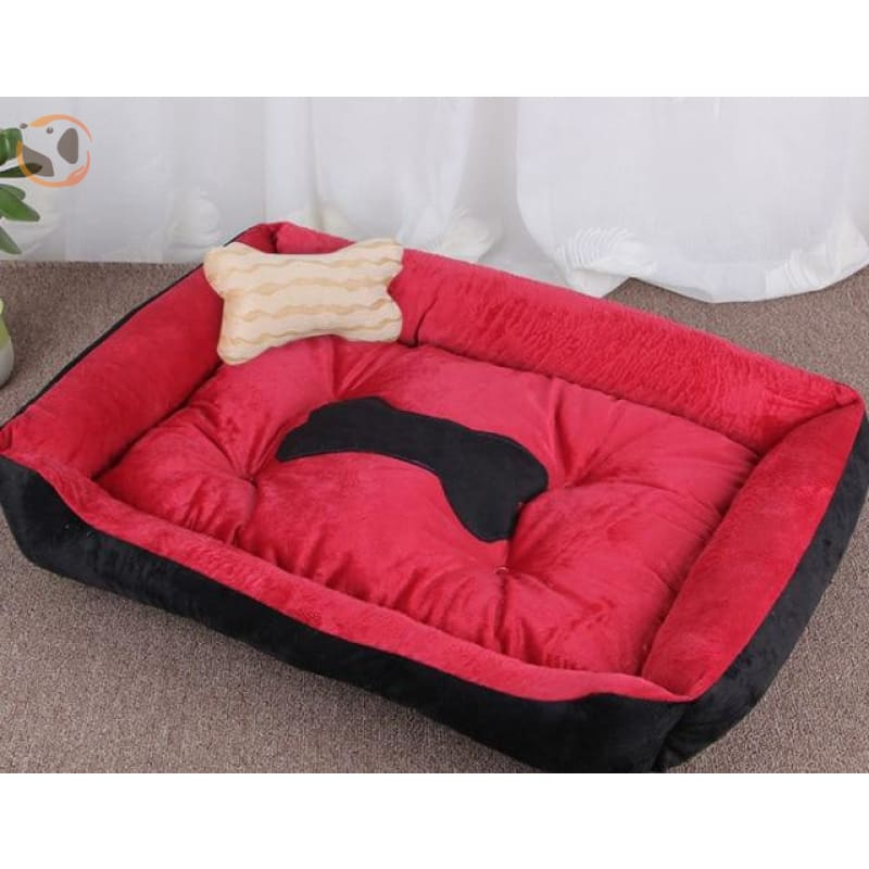 Soft Warming Dog Bed For Winter - Red / L 60X45Cm