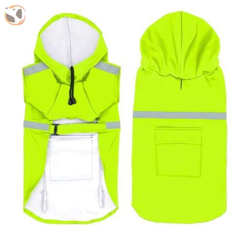 Stylish Reflective Dog Raincoat For Small & Large Dogs - Green / 2Xl