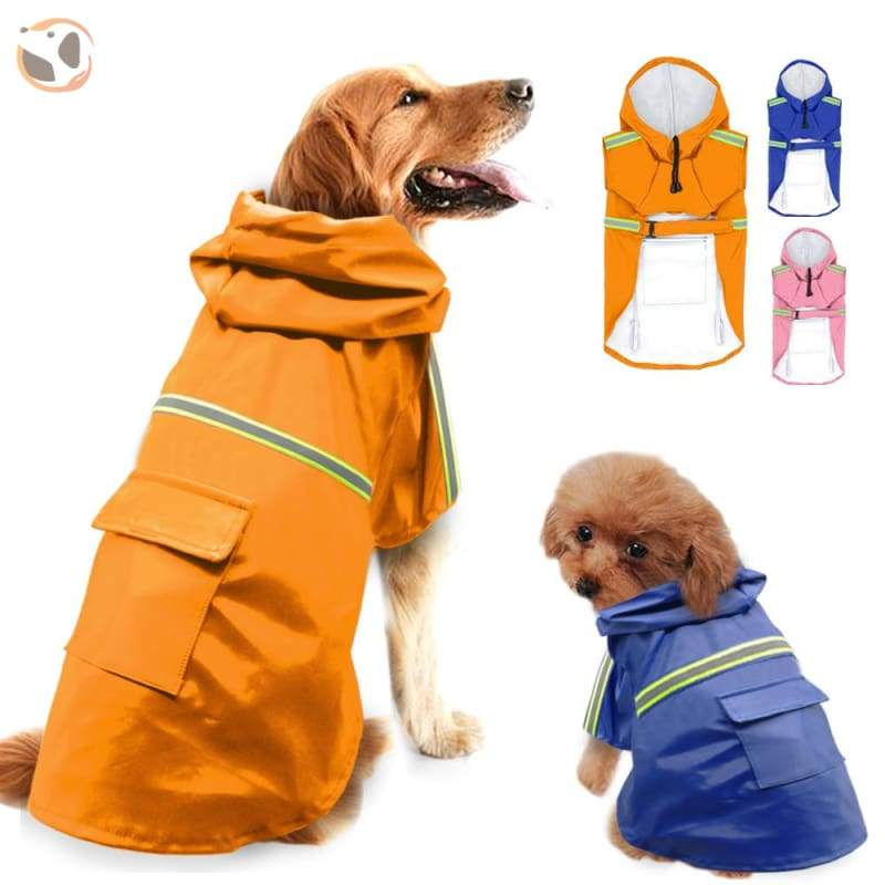 Stylish Reflective Dog Raincoat For Small & Large Dogs
