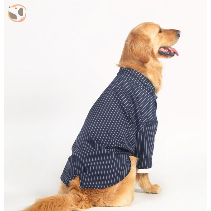 Stylish Striped Dog Tuxedo
