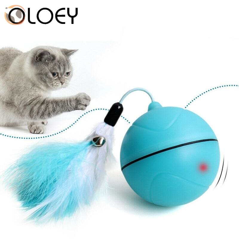 USB Rechargeable Electric Rolling Ball Toys for Cats