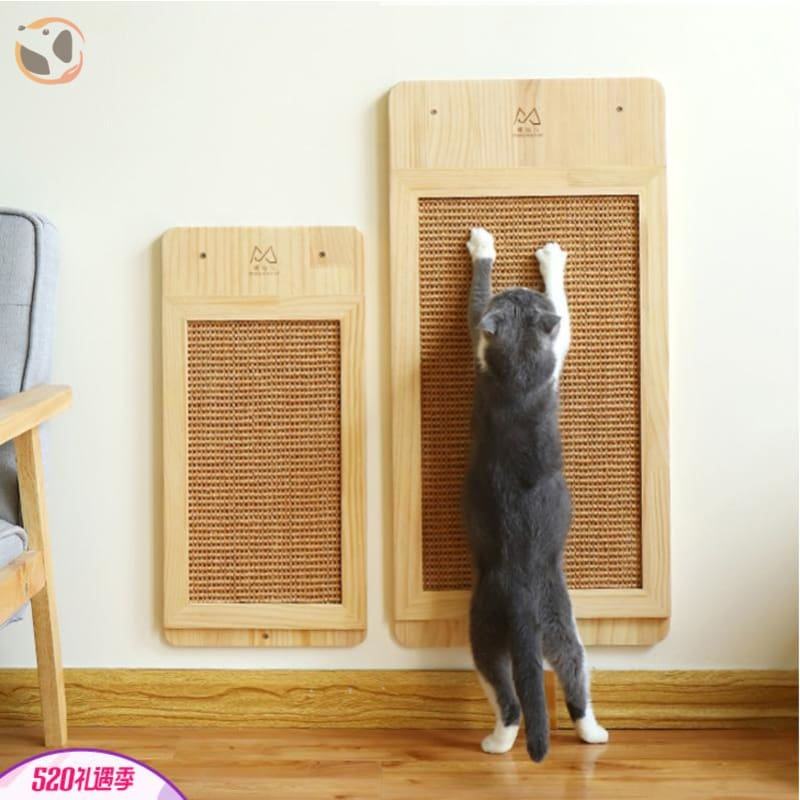 Wall Mounted Cat Scratcher Wood