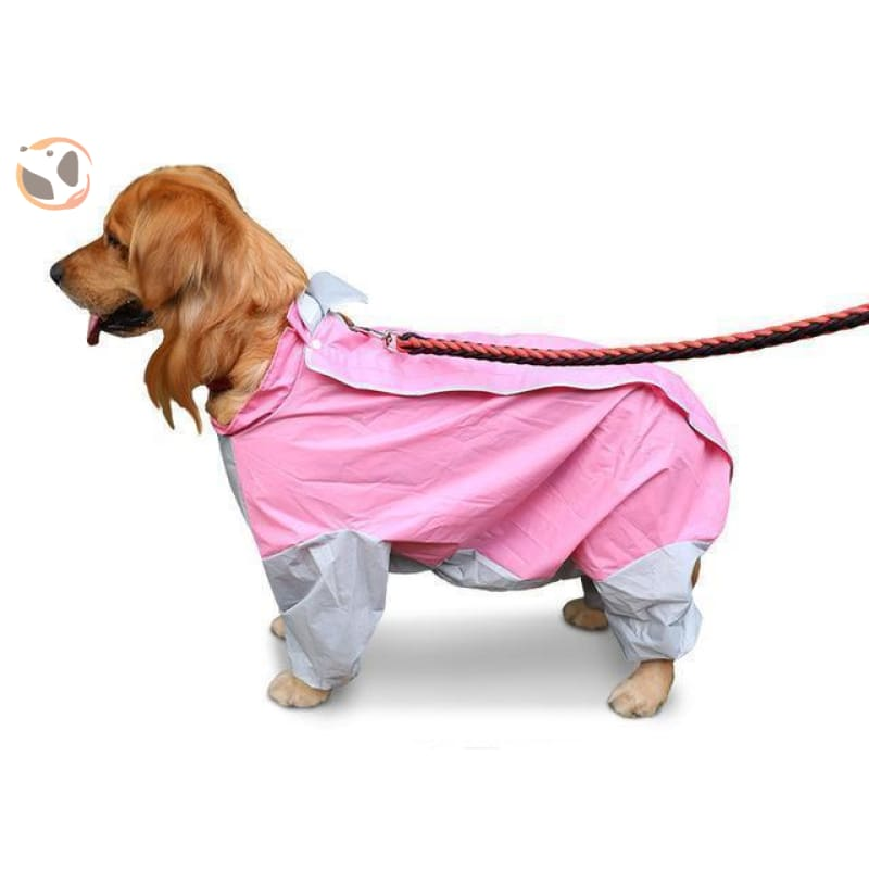 Waterproof Dog Raincoats For Large Dogs - Pink / S