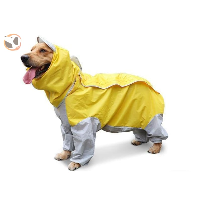 Waterproof Dog Raincoats For Large Dogs - Yellow / S