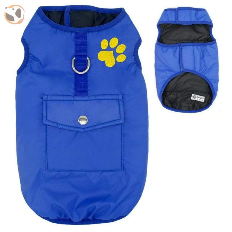 Waterproof Patterned Dog Coats - Blue / L