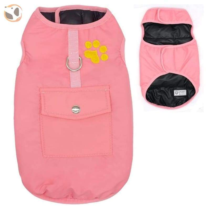 Waterproof Patterned Dog Coats - Pink / L
