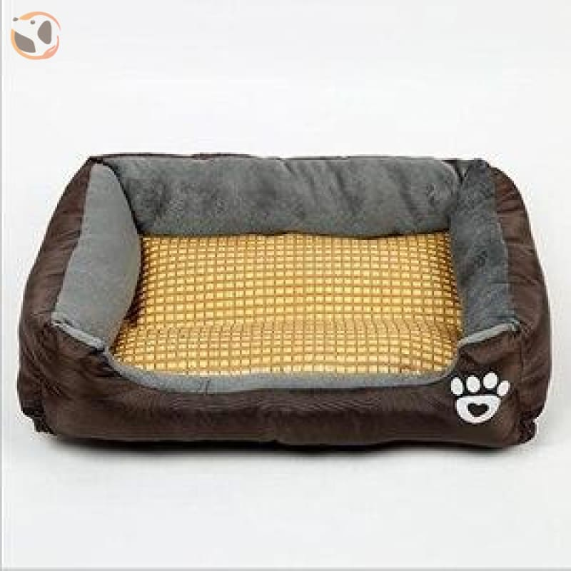 Waterproof Soft Bed for Pets - Dark Brown / 17 x 13 inch