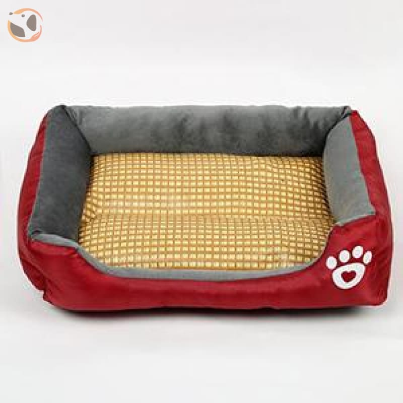 Waterproof Soft Bed for Pets - Dark Red / 17 x 13 inch