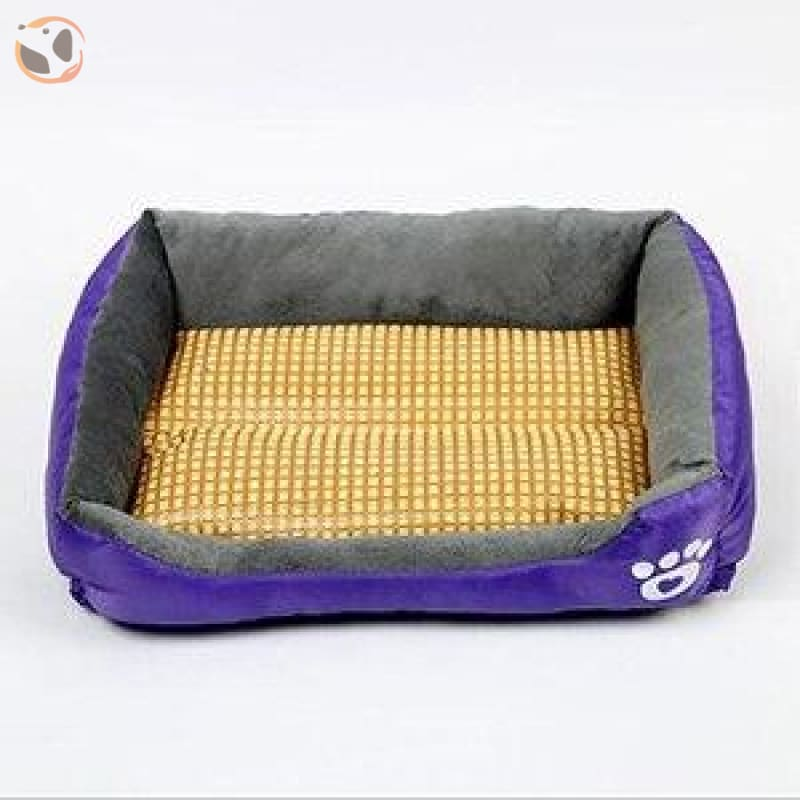 Waterproof Soft Bed for Pets - Purple / 21 x 16 inch