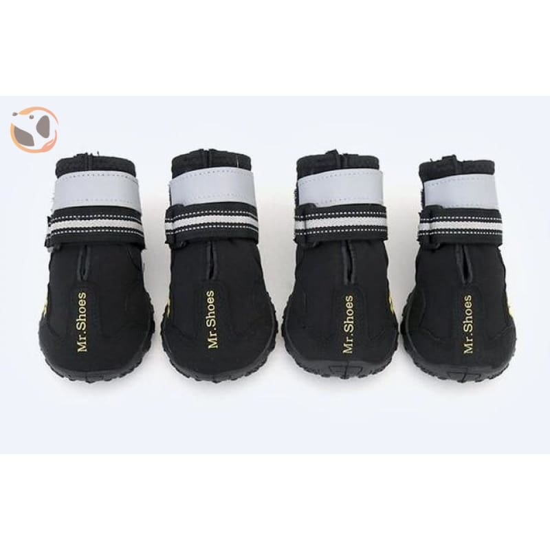 Waterproof Sport Dog Boots - Black / X-Large