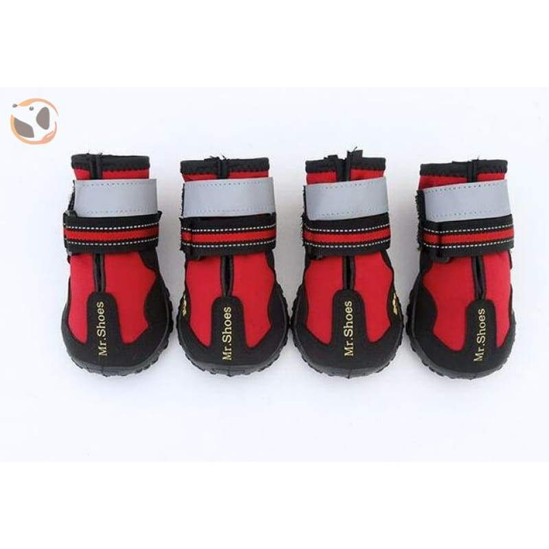 Waterproof Sport Dog Boots - Red / Medium
