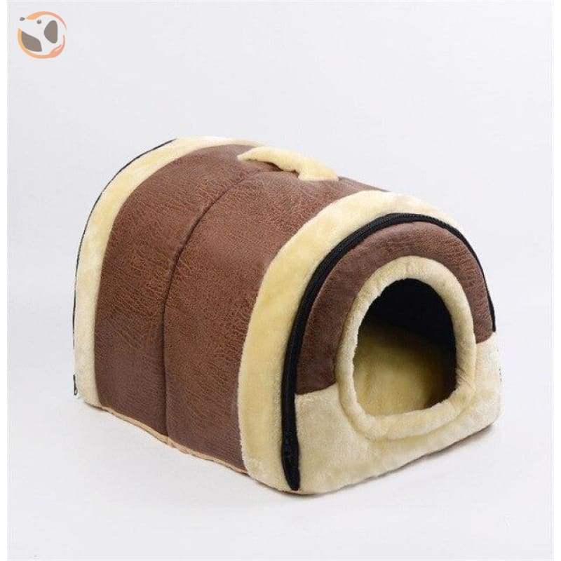 Windproof Covered Pet House - Burgundy / S