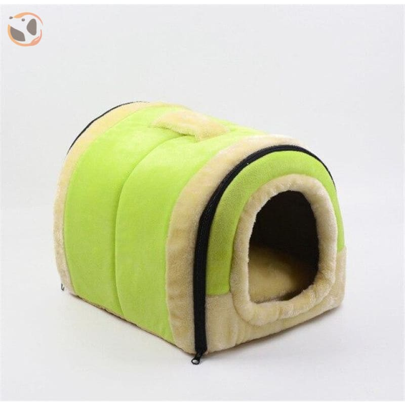 Windproof Covered Pet House - Light Green / S