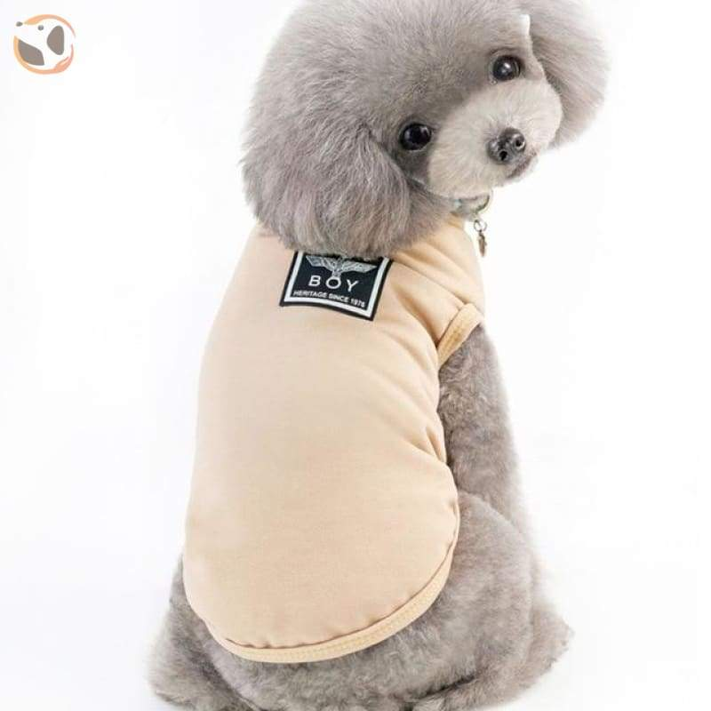 Winter Jacket for Dogs - Beige / L