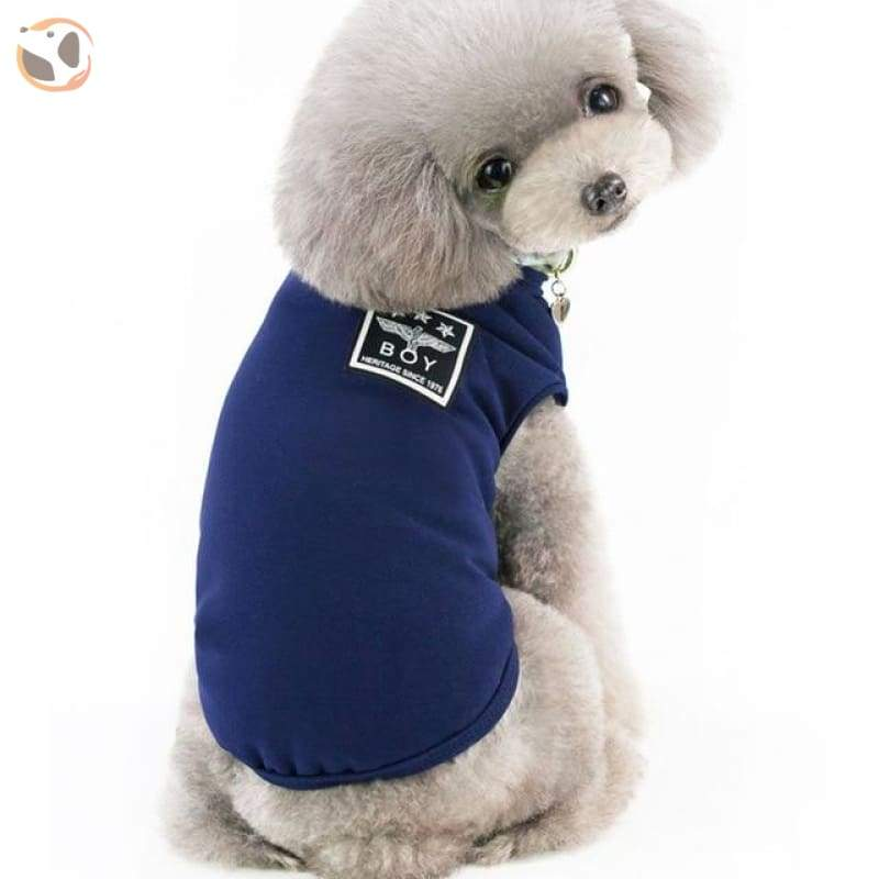 Winter Jacket for Dogs - Dark Blue / XL