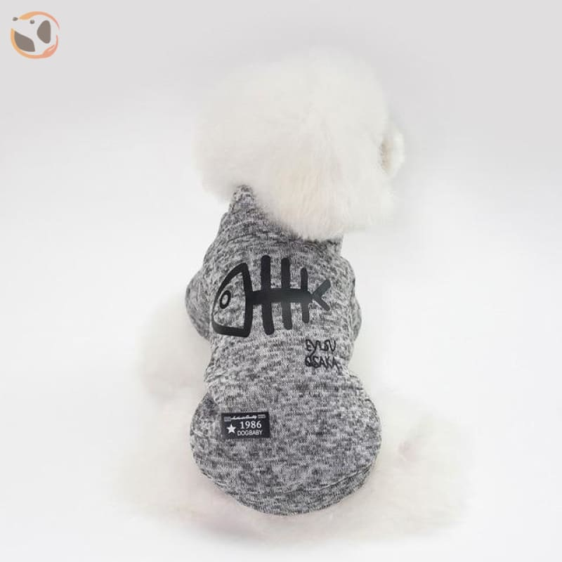 Winter Jacket for Dogs - Light Grey / L