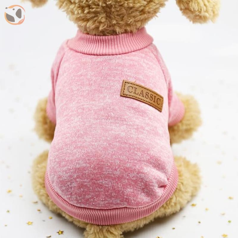 Winter Sweater for Small Dogs - Light Pink / L