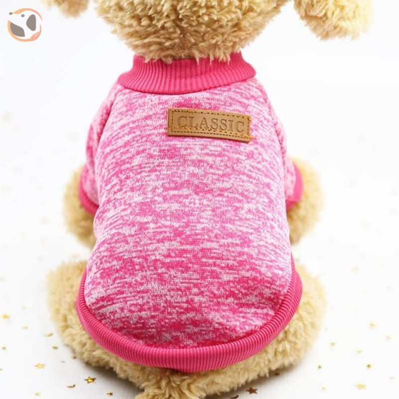 Winter Sweater for Small Dogs - Pink / L