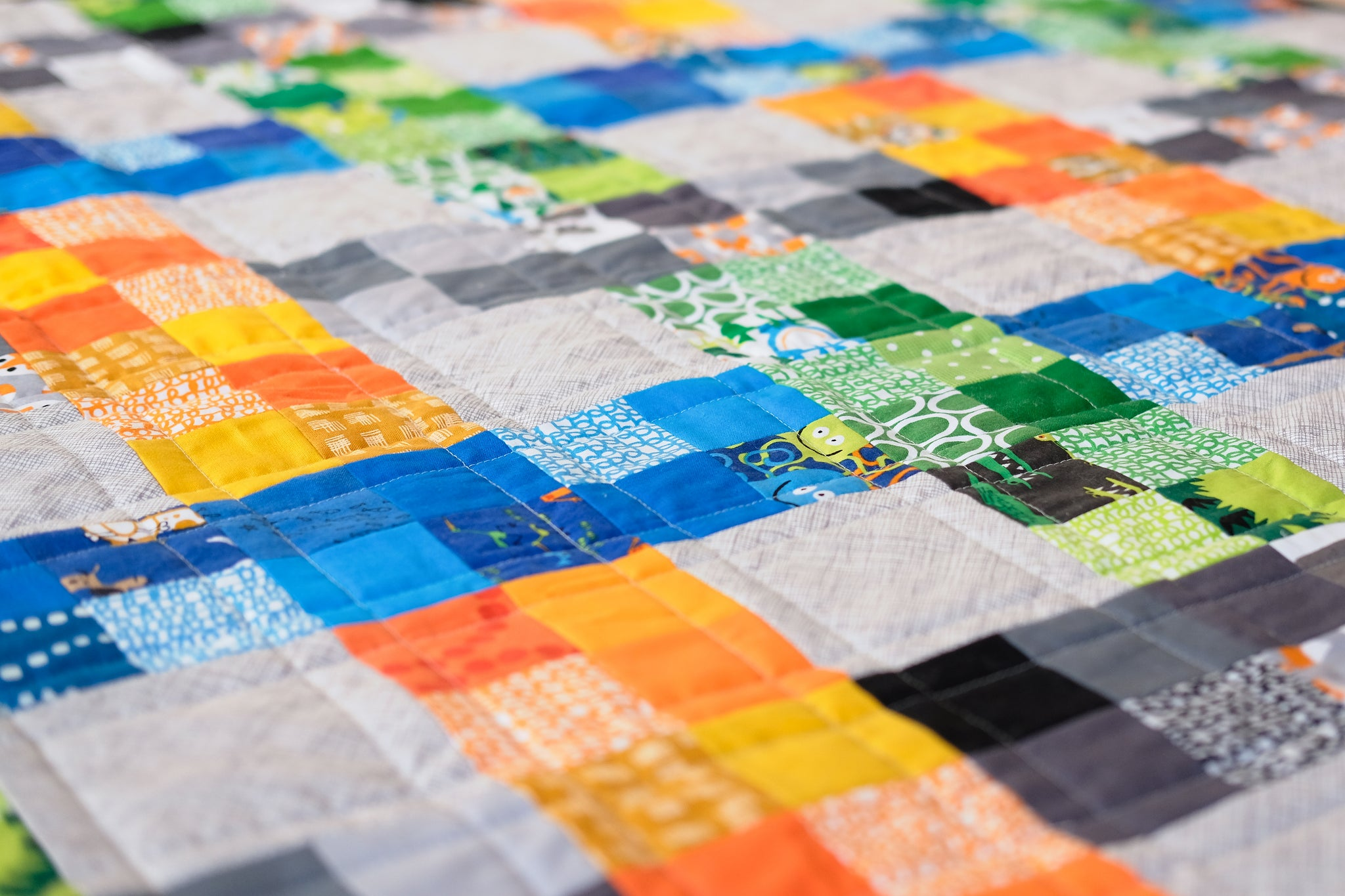 On the Fence PDF Quilt Pattern – Kitchen Table Quilting