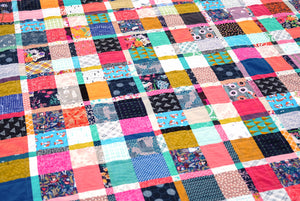 Plaid-ish Scrap Quilt Tutorial