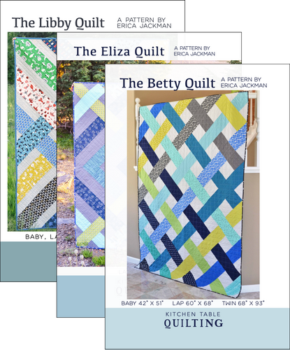 The Elizabeth Quilts Pattern Bundle - The Betty, Eliza, and Libby Quilt Patterns