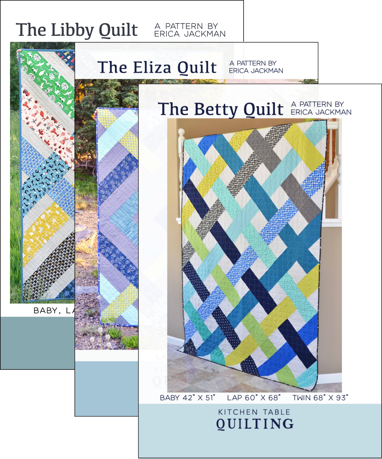 The Elizabeth Quilts PDF Pattern Bundle - The Betty, Eliza, and ...