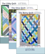 The Elizabeth Quilts PDF Pattern Bundle - The Betty, Eliza, and Libby Quilt Patterns