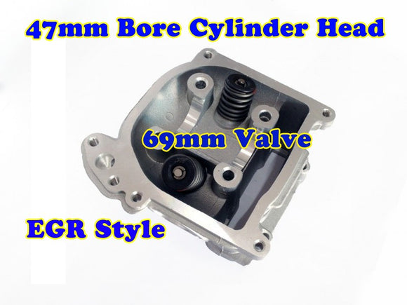 GY6 80cc 47mm Bore EGR cylinder head with 69mm valve