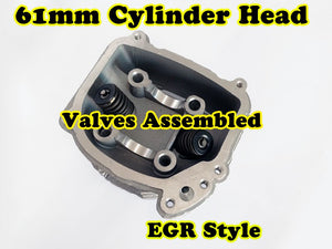 GY6 180cc 61mm Bore EGR cylinder head with valve