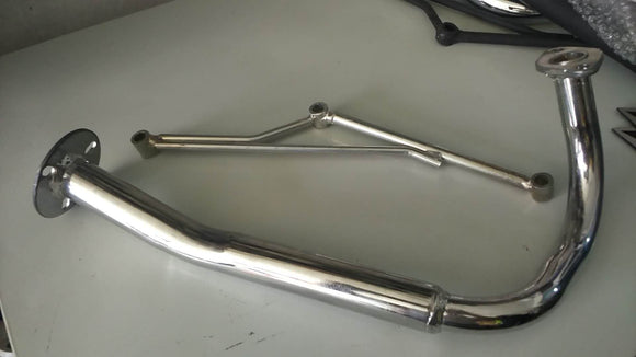 GY6 50CC Muffler Exhaust Turbing Pipe -MS