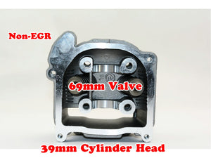 GY6 50cc 39mm Bore non-EGR cylinder head with 69mm valve