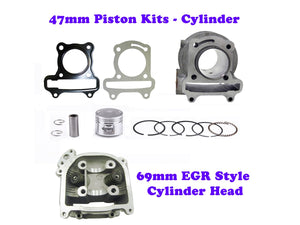 QMB139 47MM Cylinder Engine Kit with 69mm EGR Head