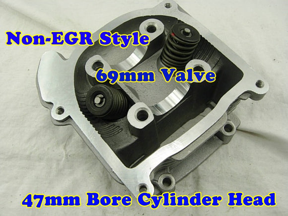 GY6 80cc 47mm Bore non-EGR cylinder head with 69mm valve - ChinesePartsPro
