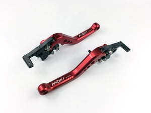 Brake Clutch Levers for Honda GROM MSX125 2014-2018,CBR250R 2011-2013,CBR300R/CB300F/FA 2014-2017,CB400F/CB400R  Red