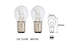10 Piece Pack Bulb - 12V 21/5W BAY15d Brake Light - ChinesePartsPro