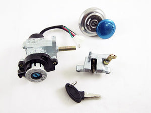 Ignition Lock Cylinder key switch Kit for MC-17-50 - ChinesePartsPro