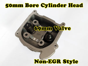 GY6 50cc 39mm Bore non-EGR cylinder head with 64mm valve
