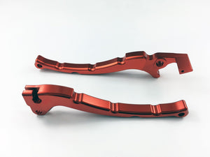 Right Disc and Left (Black Drum)   Motorcycle Brake Levers Set for 50cc QMB139 engine based  scooters