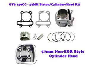 57mm GY6 150cc Cylinder Engine kit with Non-EGR Head