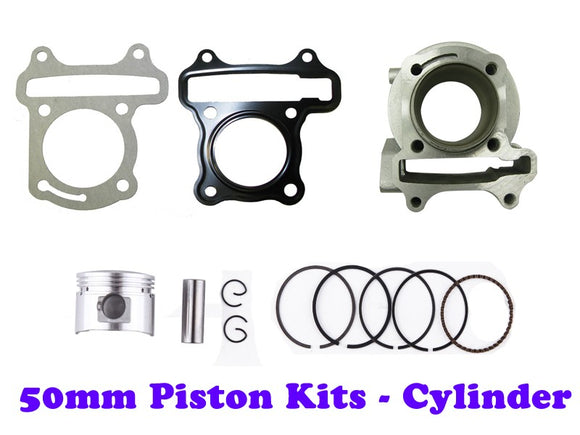 QMB139 50mm Big Bore Cylinder Kit GY6 engine - ChinesePartsPro
