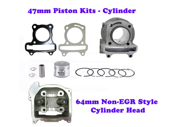 QMB139 47MM Cylinder Engine Kit with 64mm Non-EGR Head