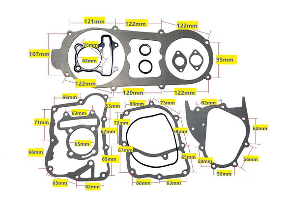 61mm Bore 180cc GY6 short Case Gasket Set - ChinesePartsPro